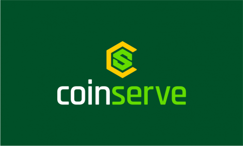 Coinserve - Cryptocurrency startup name for sale