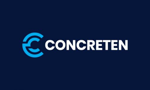 Concreten - Materials domain name for sale