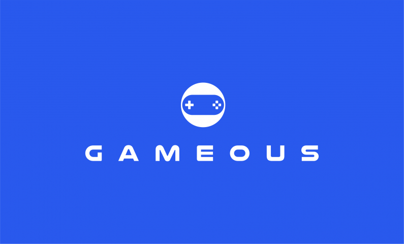 gameous logo - Catchy and fun domain name