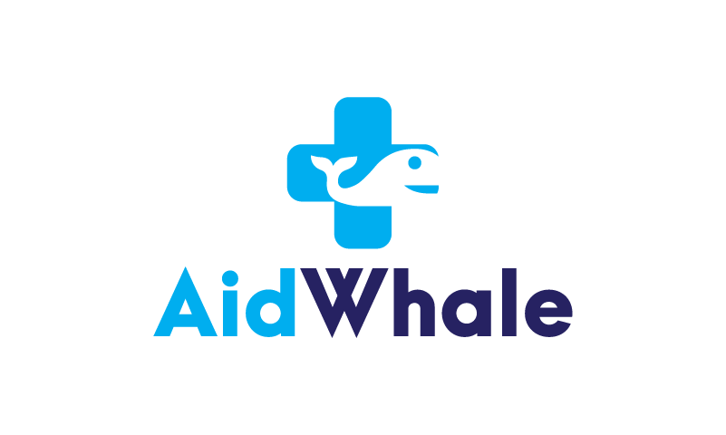 Aidwhale - Contemporary startup name for sale