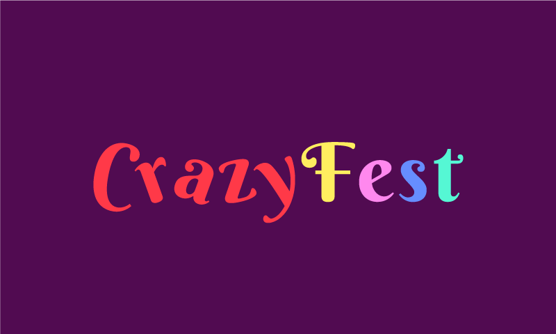 Crazyfest - Food and drink company name for sale