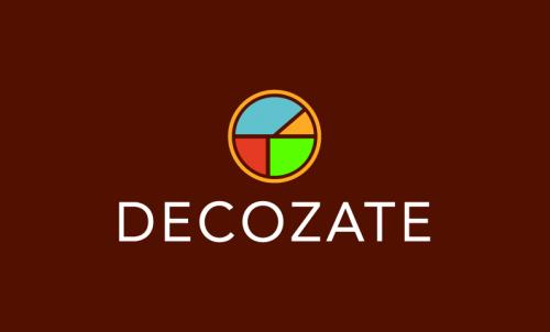 Decozate - Interior design domain name for sale