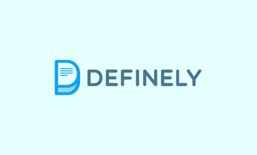 Definely - Contemporary business name for sale