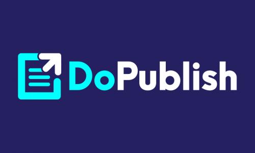 Dopublish - Writing company name for sale