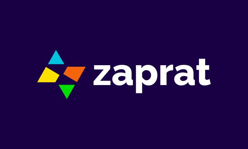 Zaprat - Audio startup name for sale