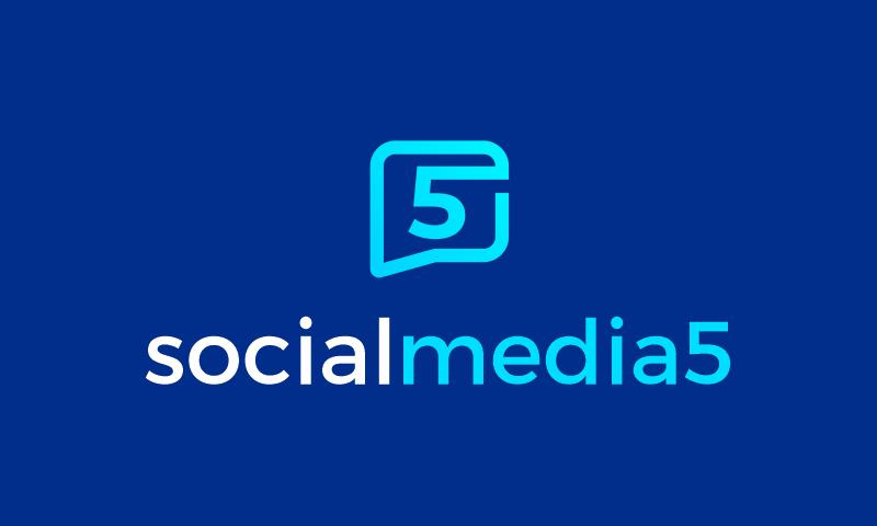 Socialmedia5 - Social company name for sale
