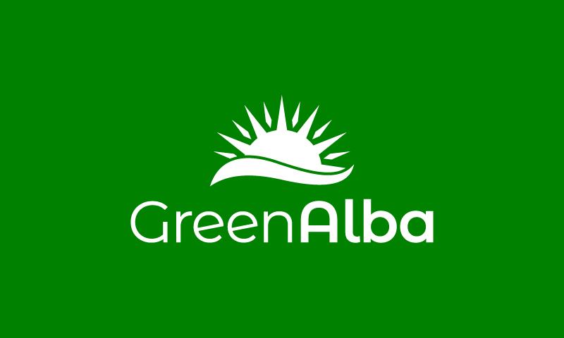 Greenalba - Green industry domain name for sale