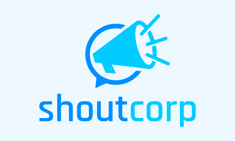 Shoutcorp - Marketing startup name for sale
