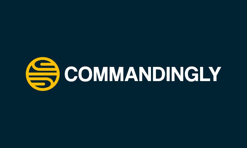 Commandingly