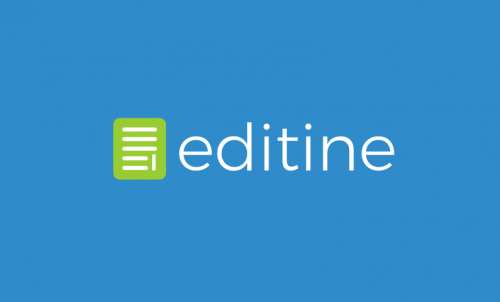 Editine - Writing startup name for sale