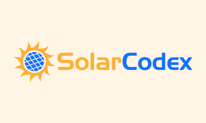 Solarcodex - Green industry brand name for sale