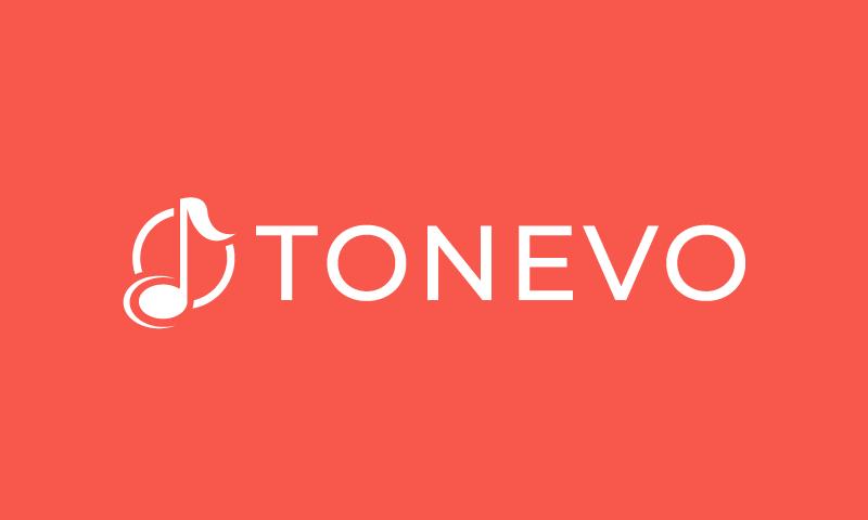 Tonevo - Audio startup name for sale