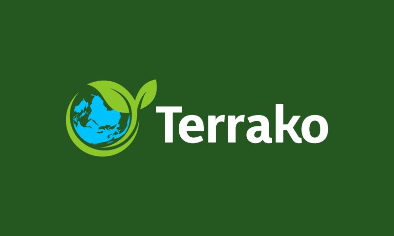 Terrako - Green industry domain name for sale