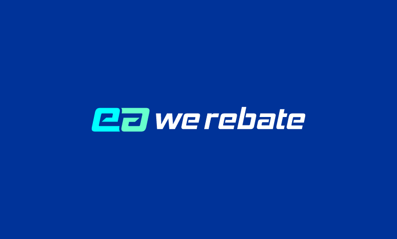 WeRebate logo - Finance-based brand name