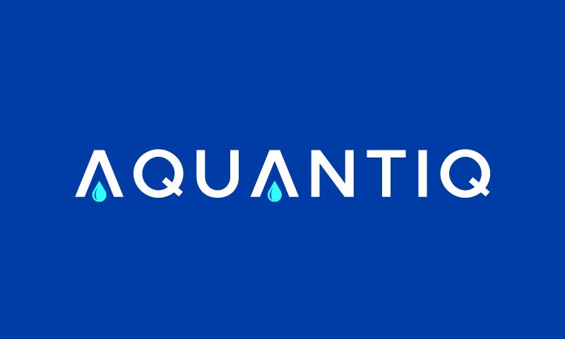 Aquantiq - Environmentally-friendly startup name for sale