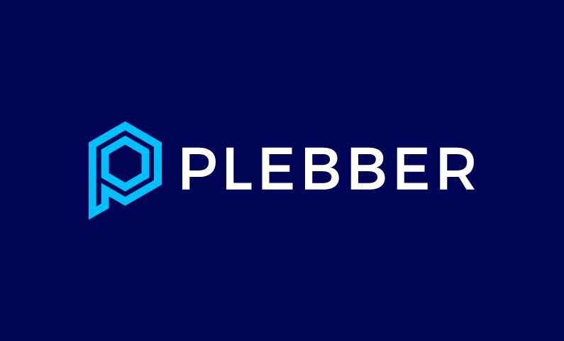 Plebber - Modern startup name for sale