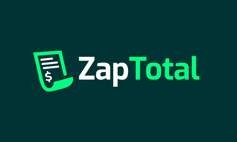 Zaptotal - Technology startup name for sale