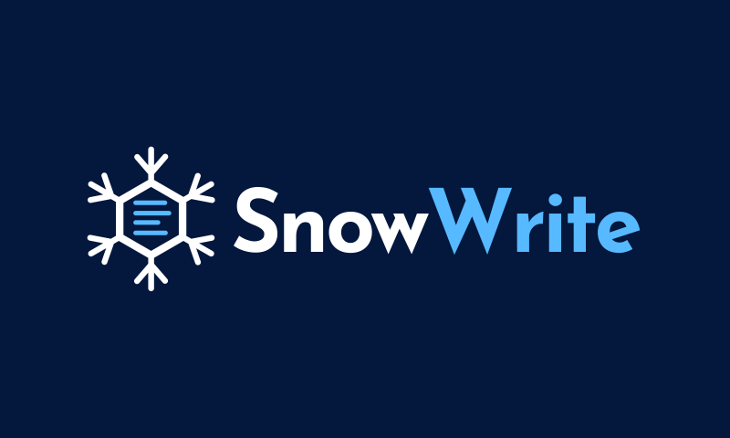 Snowwrite - Writing brand name for sale