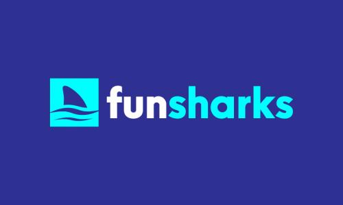 Funsharks - Marketing startup name for sale