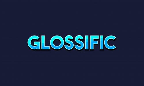 Glossific - E-commerce business name for sale