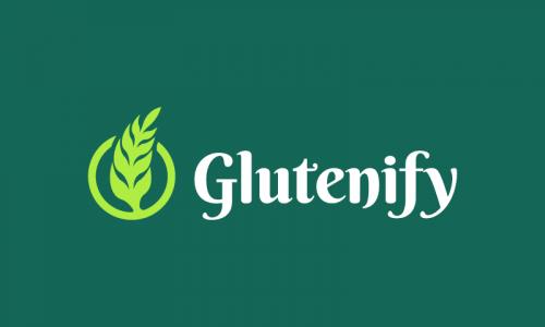 Glutenify - E-commerce startup name for sale
