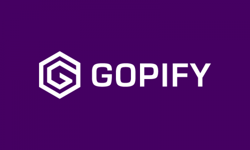 Gopify - Retail company name for sale