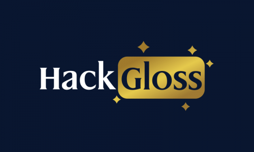 Hackgloss - Retail startup name for sale