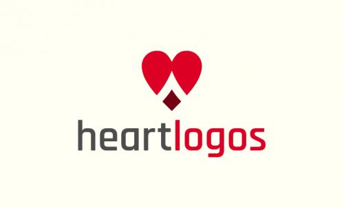 Heartlogos - Media company name for sale