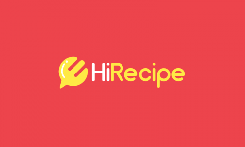 Hirecipe - Food and drink company name for sale