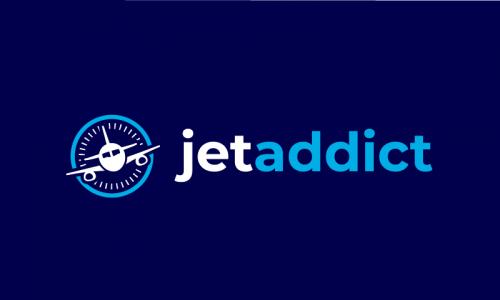 Jetaddict - Contemporary business name for sale