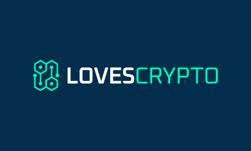 Lovescrypto - Cryptocurrency startup name for sale
