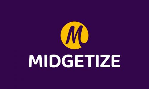 Midgetize - Media startup name for sale