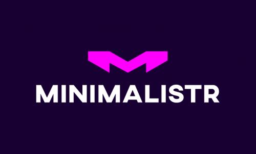 Minimalistr - Design startup name for sale