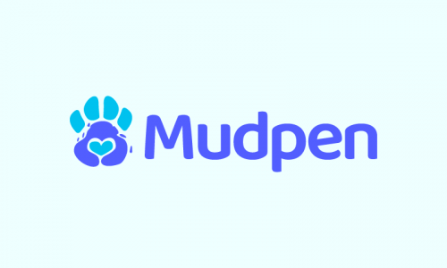 Mudpen - Approachable business name for sale