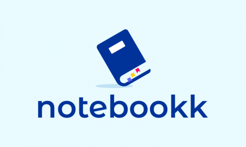Notebookk - Contemporary startup name for sale