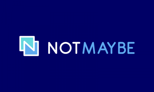 Notmaybe - Marketing brand name for sale
