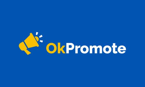 Okpromote - Advertising startup name for sale
