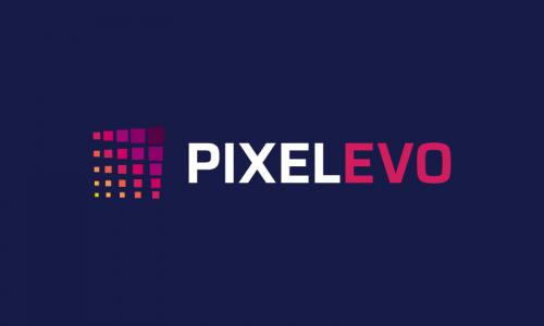 Pixelevo - Design startup name for sale