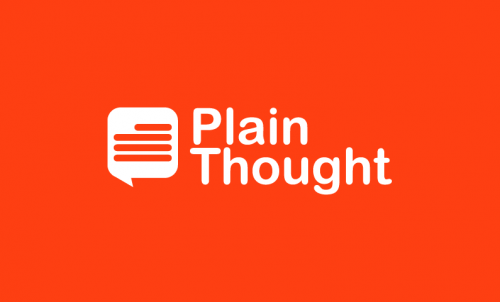 Plainthought - Technology startup name for sale