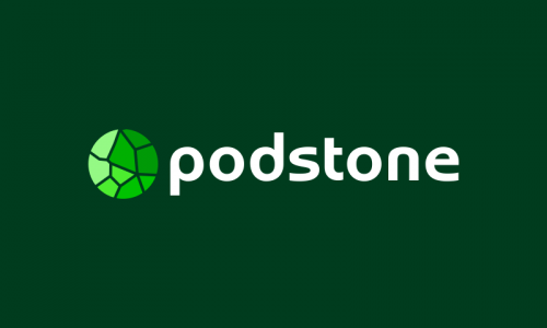 Podstone - Audio startup name for sale