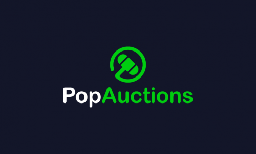 Popauctions - E-commerce startup name for sale
