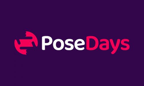 Posedays - Entertainment business name for sale