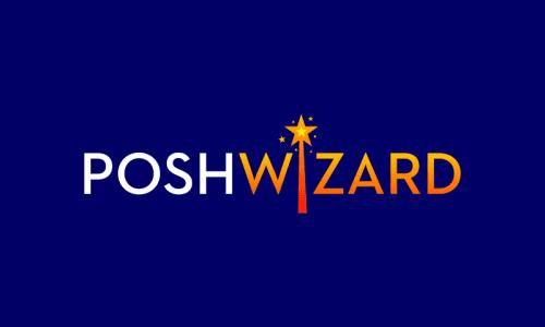 Poshwizard - E-commerce company name for sale