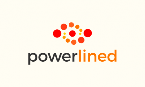 Powerlined - Electronics startup name for sale
