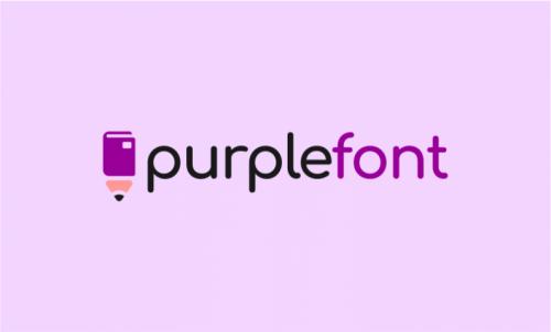 Purplefont - Design company name for sale