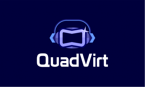 Quadvirt - Space startup name for sale