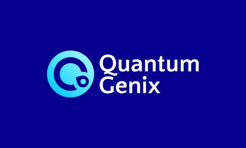Quantumgenix - Modern startup name for sale