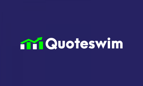 Quoteswim - Modern startup name for sale