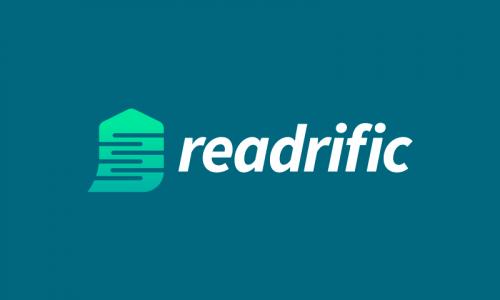 Readrific - Writing domain name for sale