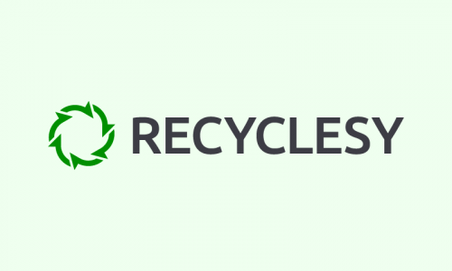 Recyclesy - Environmentally-friendly brand name for sale
